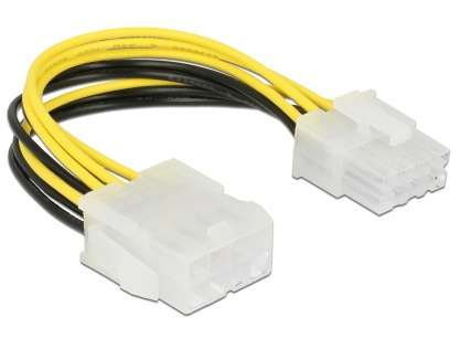 Cablu prelungitor de alimentare 8 pini EPS T-M 0.15m, Delock 85451