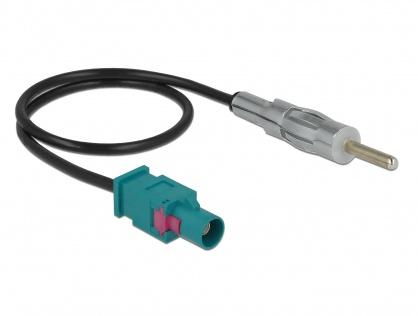Cablu antena FAKRA Z la DIN plug RG-174 32cm, Delock 85720