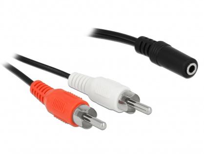 Cablu 2 x RCA la jack stereo 3 pini 3.5mm T-M 1.4m, Delock 85808