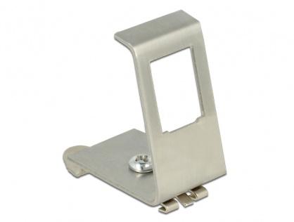 Carcasa de montare Keystone metalica cu 1 port pentru  DIN rail, Delock 86259