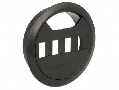 Carcasa pentru montare in masa 4 porturi Keystone 80 mm Negru, Delock 86283