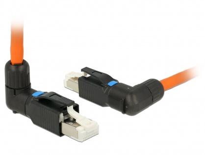 Conector de ansamblat RJ45 cat 6A pentru fir solid unghi, Delock 86295