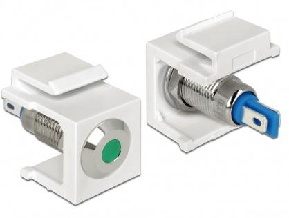 Keystone alb cu LED verde 6V flat, Delock 86435