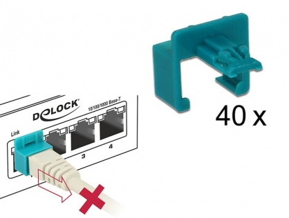Set 40 buc Clips pentru securizarea mufei RJ45, Delock 86446