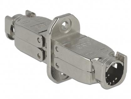 Cupla pentru fir solid cat 6 STP M-M toolfree, Delock 86466