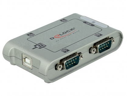 Adaptor USB la 4 x Serial RS-232, Delock 87414
