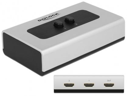 Switch HDMI 2 porturi, Delock 87663
