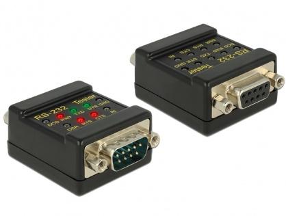 Tester RS-232 DB9 T-M, Delock 87713