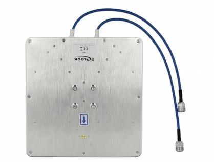 Antena LTE (Lora) MIMO 2 x N jack 8 dBi directional cu RG-402 37cm, Delock 88931