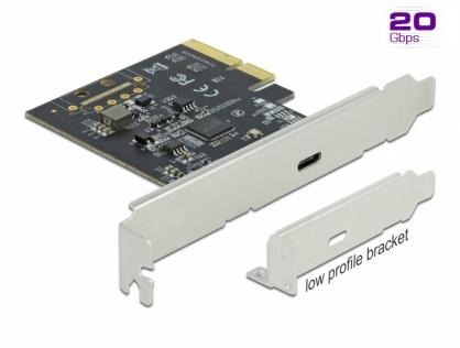 PCI Express cu 1 x SuperSpeed USB 20 Gbps (USB 3.2 Gen 2x2) USB-C, Delock 89036