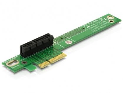 Riser card PCI Express x4 unghi 90 grade insertie stanga, Delock 89103