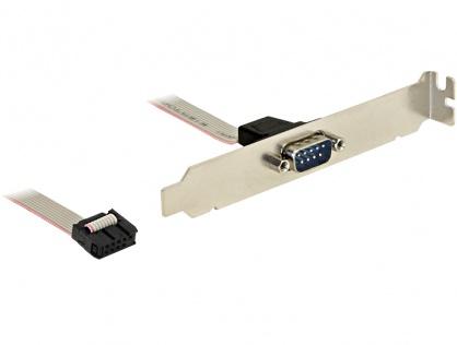 Bracket serial DB9 1 port 1:1, Delock 89108