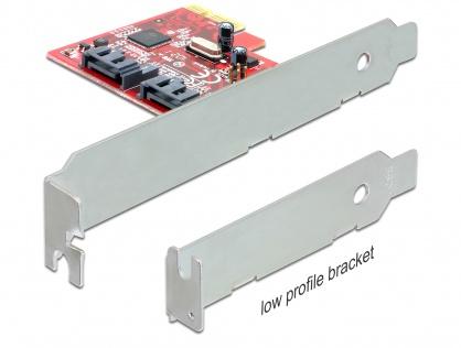 Placa PCI Express la 2 porturi interne SATA 6 Gb/s, Delock 89270