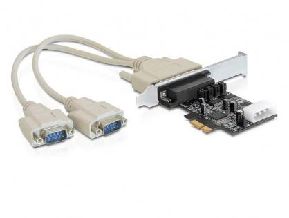Placa PCI Express la 2 x Serial RS232 Power Management, Delock 89305