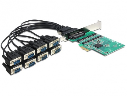 PCI Express Card la 8 x Serial RS-232 High Speed 921K, Delock 89336