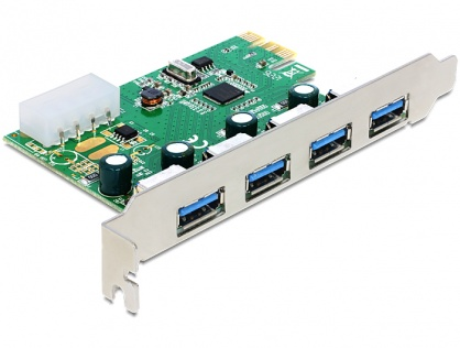 PCI Express cu 4 porturi externe USB 3.0, Delock 89363
