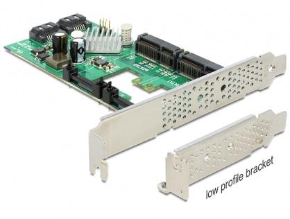 PCI Express cu 2x SATA 6 Gb/s Hybrid + 2x mSATA, Delock 89372