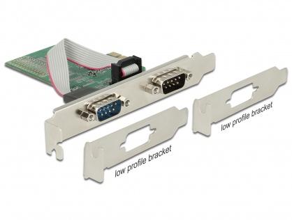 PCI Express la 2 x Serial RS-232, Delock 89555