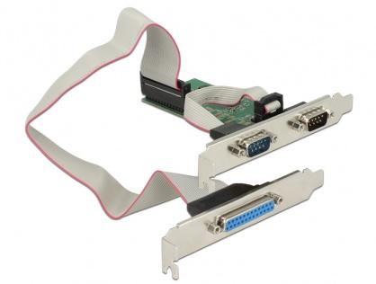 PCI Express la 2 x serial RS232 + 1 x paralel DB25, Delock 89556