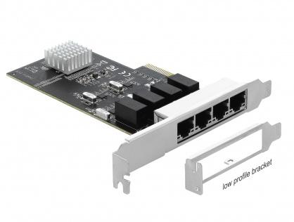 PCI Express la 4 x Gigabit LAN, Delock 89567