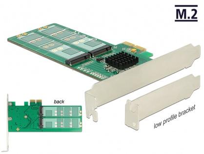 PCI Express la 4 x internal M.2 Key B - Low Profile Form Factor, Delock 89588