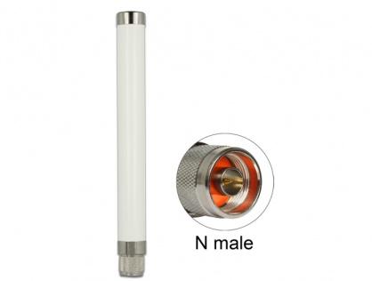 Antena fixa 433 MHz N plug 1.32 dBi omnidirectionala pentru exterior, Delock 89634