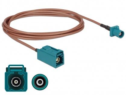 Cablu antena FAKRA Z plug la FAKRA Z jack RG-316 1.8m, Delock 89659