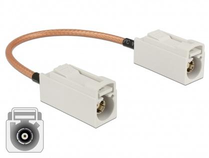 Cablu antena FAKRA B jack la FAKRA B jack RG-316 15 cm, Delock 89674