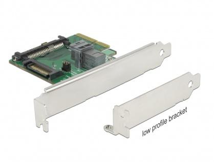 PCI Express U.2 NVMe la 1 x SFF-8643 + 1 x SFF-8639 Low Profile Form Factor, Delock 89922