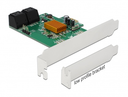 PCI Express cu 4 porturi SATA III, Delock 90382