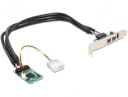 Mini PCIe I/O PCIe full size 1 x FireWire A, 2 x FireWire B, Delock 95236