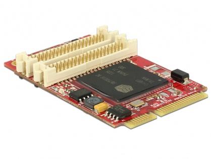 MiniPCIe I/O PCIe full size adaptor grafic pentru VGA / DVI / HDMI -40 °C ~ 85 °C, Delock 95255