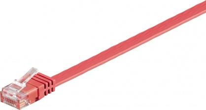 Cablu de retea UTP cat 6 flat 2m Rosu, Goobay 96412