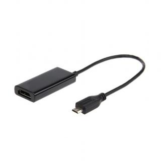Adaptor micro USB MHL la HDMI T-M 5 pini, Gembird A-MHL-002