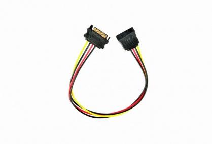 Cablu prelungitor alimentare SATA 15 pini T-M 30cm, Gembird CC-SATAMF-01