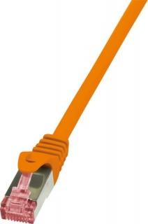 Cablu de retea RJ45 SFTP cat6 LSOH 3m Orange, Logilink CQ2068S