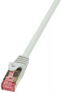 Cablu de retea RJ45 SFTP cat6 LSOH 30m Gri, Logilink CQ2122S
