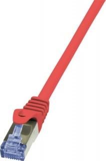 Cablu de retea RJ45 SFTP cat6A LSOH 0.25m rosu, Logilink CQ3014S