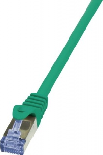 Cablu de retea RJ45 SFTP cat. 6A LSOH 0.25m verde, Logilink CQ3015S