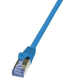 Cablu de retea RJ45 SFTP cat6A LSOH 0.25m Albastru, Logilink CQ3016S