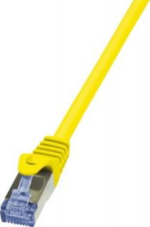 Cablu de retea RJ45 SFTP cat6A LSOH 0.25m galben, Logilink CQ3017S