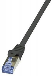 Cablu de retea S/FTP RJ45 CAT.6A LSOH 30m negru, Logilink CQ3123S