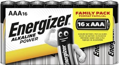 Set 16 buc baterii alkaline AAA, ENERGIZER