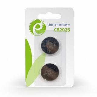 Set 2 buc baterie CR2025 3V Litiu, Energenie EG-BA-CR2025-01