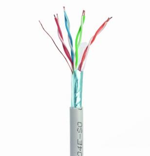 Rola cablu de retea cat 5e Cu fir solid FTP 305m, Gembird FPC-5004E-SO