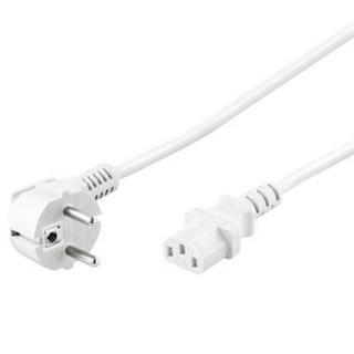 Cablu alimentare PC IEC C13 2m Alb, KPSP2W