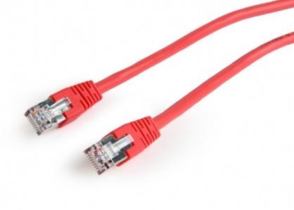 Cablu de retea RJ45 FTP cat6 0.25m Rosu, Gembird PP6-0.25M/R