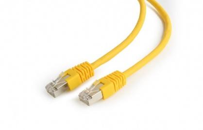 Cablu de retea RJ45 FTP cat6 0.25m Galben, Gembird PP6-0.25M/Y