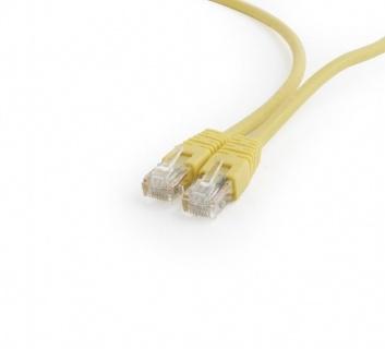 Cablu de retea RJ45 0.25m cat 6 UTP galben, Gembird PP6U-0.25M/Y