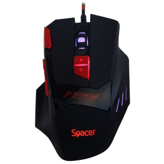 Mouse gaming USB optic iluminare RGB, Spacer SP-GM-02